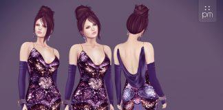 Freda Purple Gown Group Gift by PurpleMoon - Teleport Hub - teleporthub.com