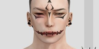 Silence is Golden Face Tattoo Group Gift by CerberusXing - Teleport Hub - teleporthub.com