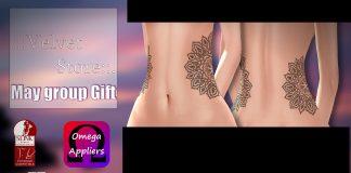 Belly Tattoo May 2016 Group Gift by Velvet - Teleport Hub - teleporthub.com