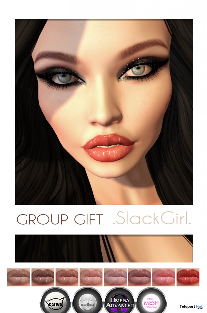Priscilla Lips For Mesh Heads Group Gift by SlackGirl - Teleport Hub - teleporthub.com