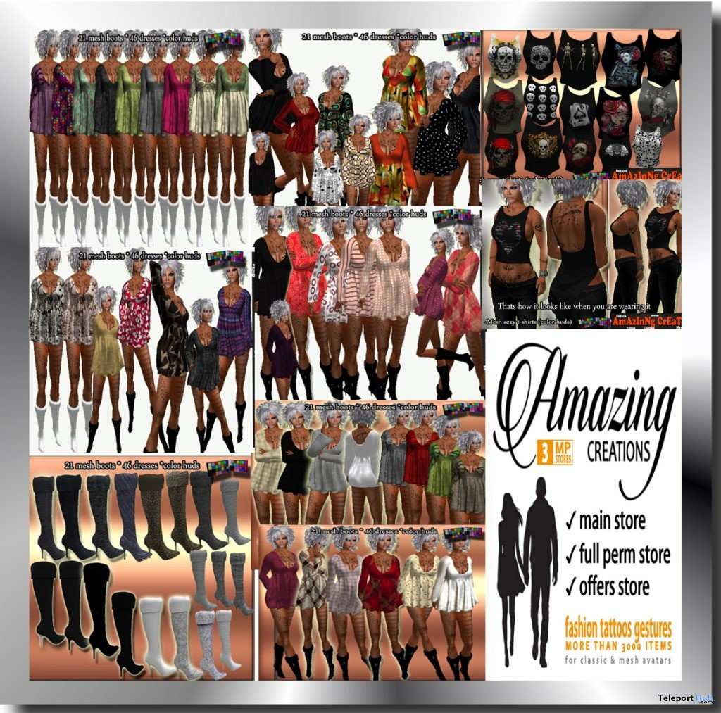 Female Outfits and Dresses May 2016 Group Gift by AmAzInNg CrEaTiOnS - Teleport Hub - teleporthub.com