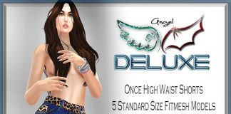 Once High Waist Shorts June 2016 Group Gift by Angel DELUXE - Teleport Hub - teleporthub.com