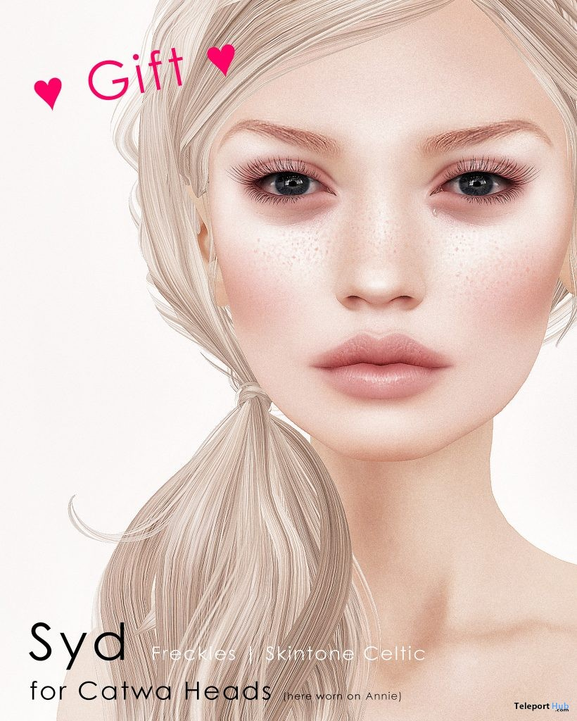 Syd Freckles Celtic Skin Tone Catwa Head Applier Gift by DeeTaleZ - Teleport Hub - teleporthub.com