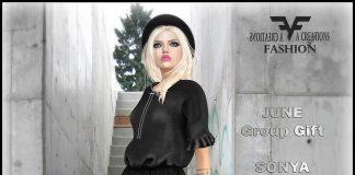 Sonya Leather Dress June 2016 Group Gift by FA CREATIONS - Teleport Hub - teleporthub.com