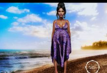 Helena Summer Dress June 2016 Group Gift by AMERICAN BAZAAR - Teleport Hub - teleporthub.com