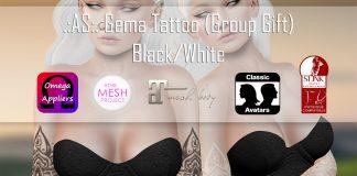 Gema Tattoo June 2016 Group Gift by AS - Teleport Hub - teleporthub.com