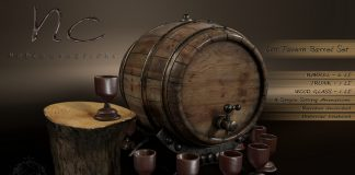 New Release: Old Tavern Barrel Set by Noble Creation - Teleport Hub - teleporthub.com