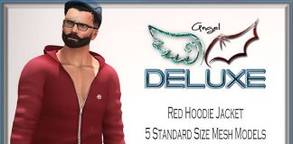 Red Hoodie Jacket For Men June 2016 Group Gift by Angel DELUXE - Teleport Hub - teleporthub.com