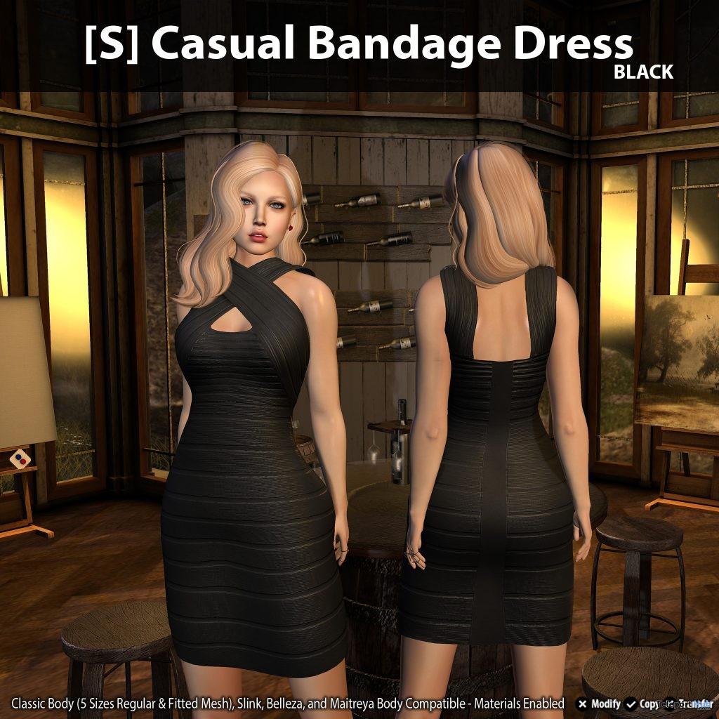 New Release: [S] Casual Bandage Dress by [satus Inc] - Teleport Hub - teleporthub.com