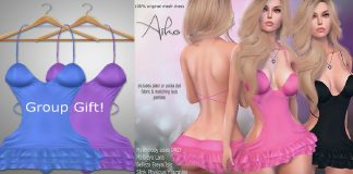 Aiko Mini Dress Group Gift by Apple May Designs - Teleport Hub - teleporthub.com