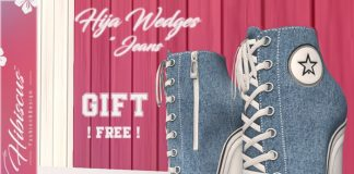 Hija Wedges Jeans v3 Gift by Hibiscus - Teleport Hub - teleporthub.com