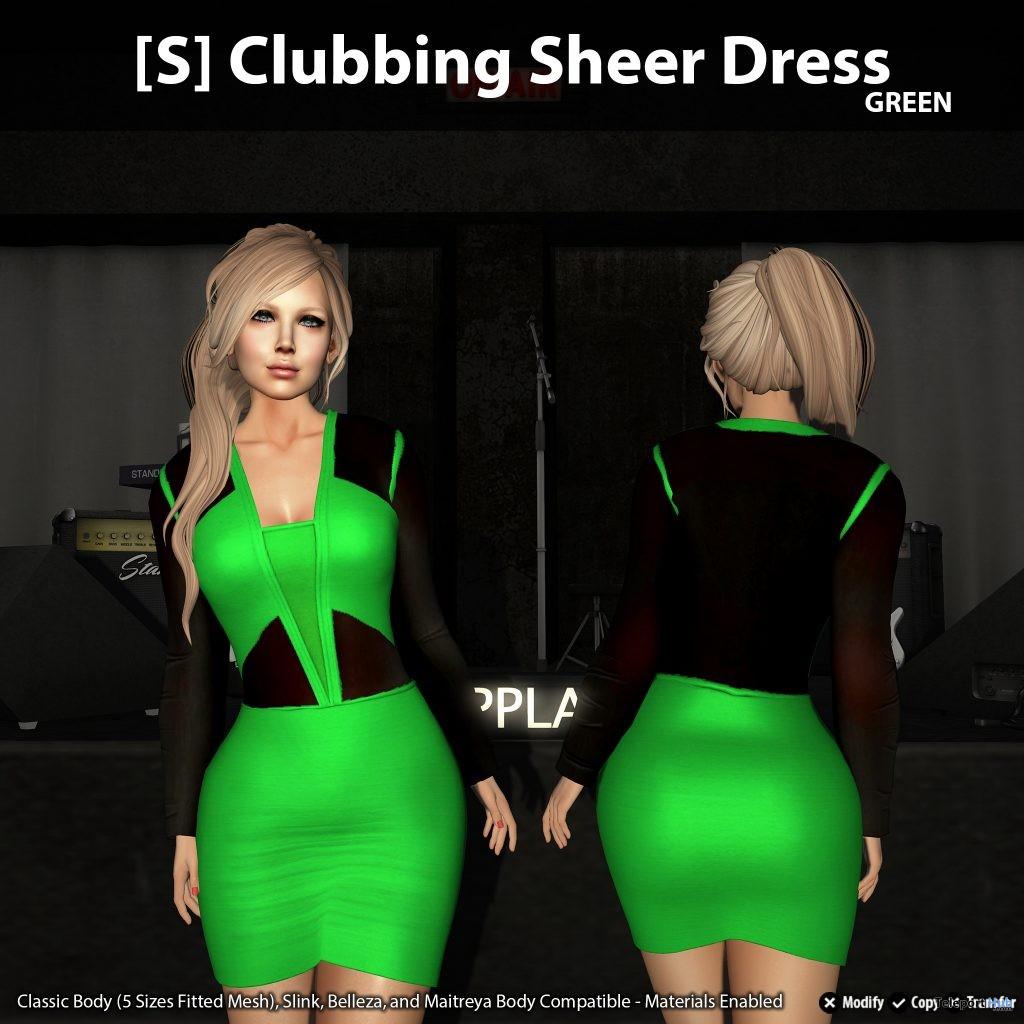 New Release: [S] Clubbing Sheer Dress by [satus Inc] - Teleport Hub - teleporthub.com