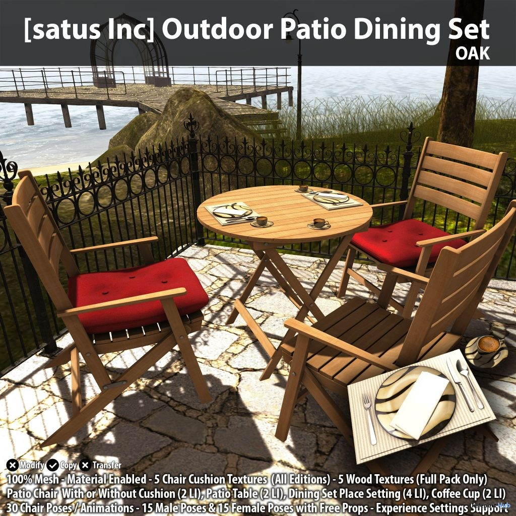 New Release: Outdoor Patio Dining Set by [satus Inc] - Teleport Hub - teleporthub.com