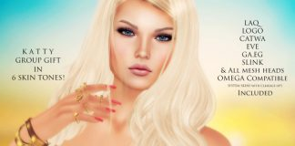 Katty Skin 6 Tones With Appliers Group Gift by WOW Skins - Teleport Hub - teleporthub.com