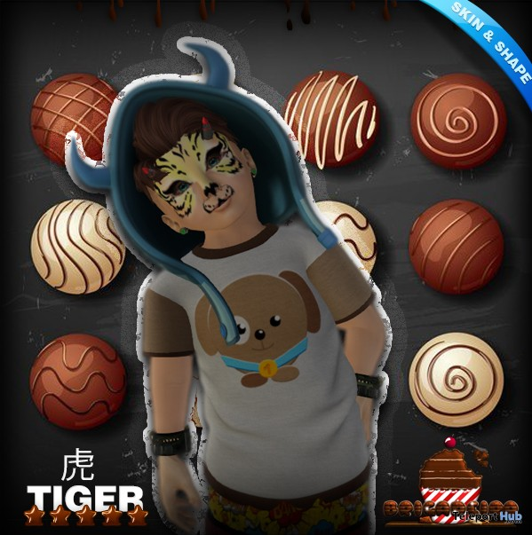 Tiger Face Boy Skin & Shape Model Group Gift by Brigadeiro - Teleport Hub - teleporthub.com