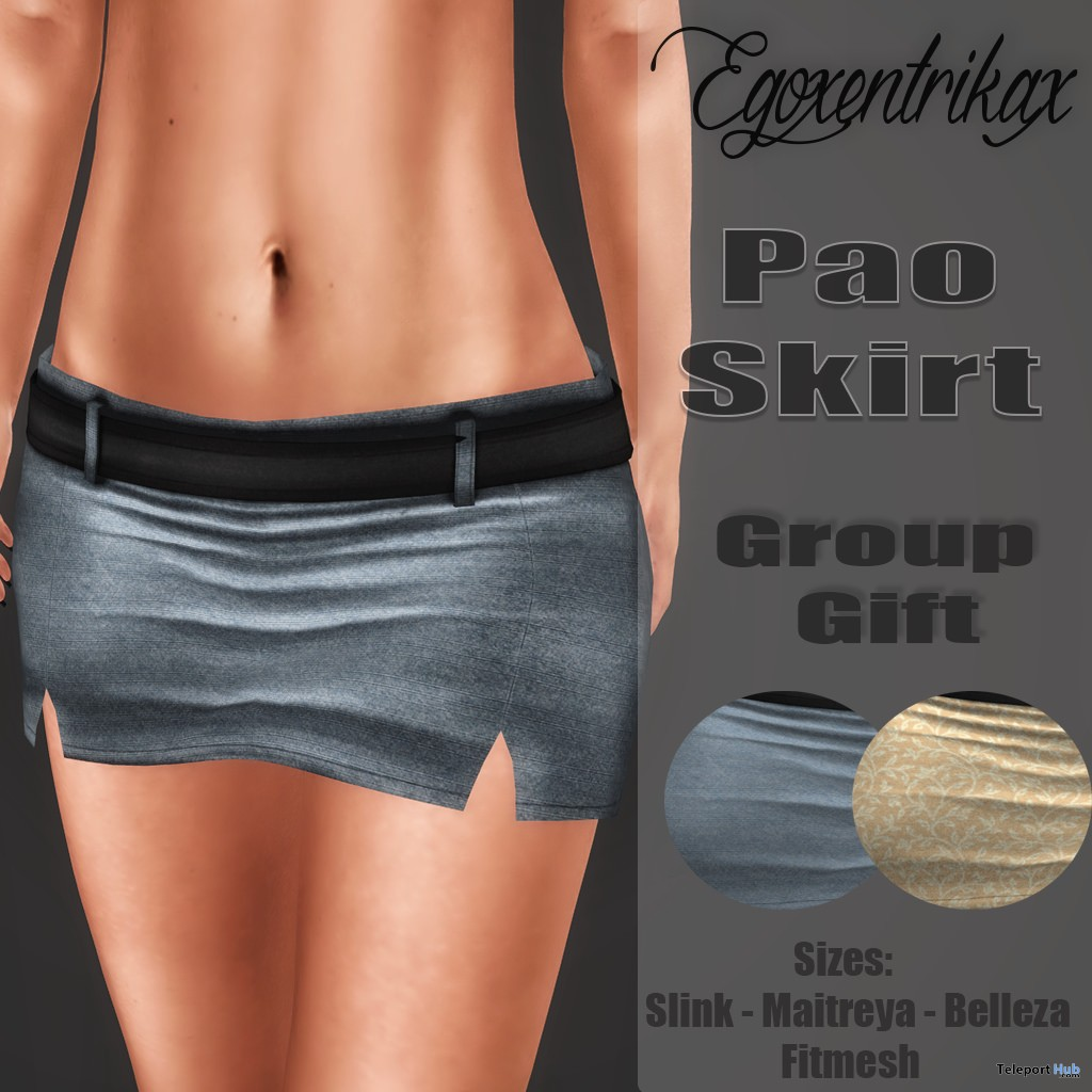 Pao Skirt August 2016 Group Gift by Egoxentrikax - Teleport Hub - teleporthub.com