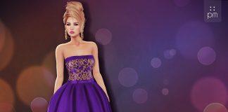 Katherine Purple Gown Group Gift by PurpleMoon - Teleport Hub - teleporthub.com