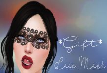 Lace Mask with Lelutka and Omega Applier Group Gift by Beauty and Mirrors - Teleport Hub - teleporthub.com
