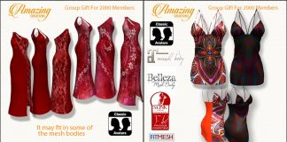 Two Dresses For Women 2000 Members Group Gift by AmAzInG CrEaTiOnS - Teleport Hub - teleporthub.com