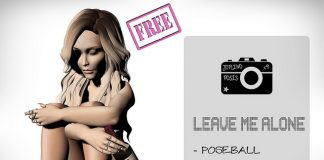 Leave Me Alone Pose September 2016 Subscriber Gift by Joplino - Teleport Hub - teleporthub.com
