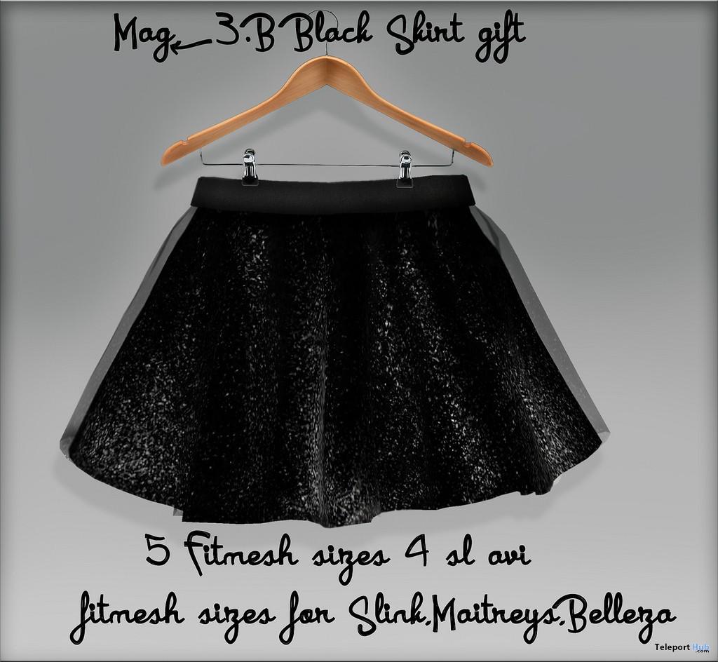 Black Skirt 5L Promo by Mag<3.B - Teleport Hub - teleporthub.com