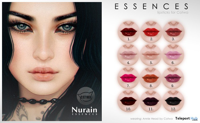 Catwa Lipsticks Nurain Applier Gift by Essences - Teleport Hub - teleporthub.com