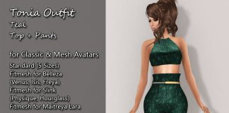 Tonia Outfit Teal Group Gift by Kamiri - Teleport Hub - teleporthub.com