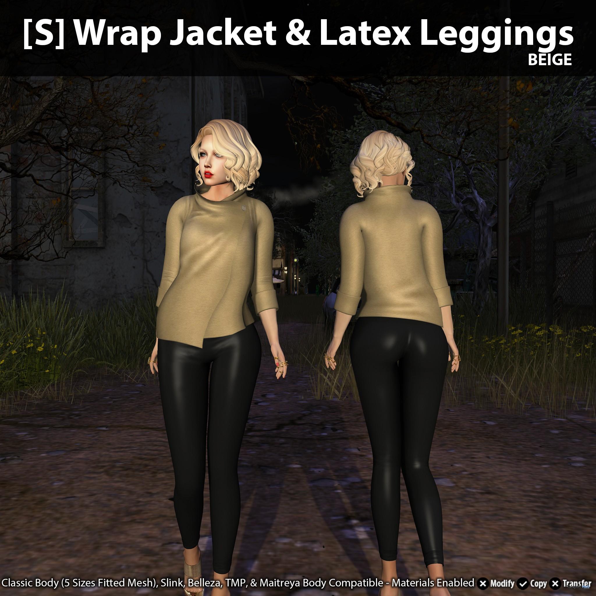 New Release: [S] Wrap Jacket & Latex Leggings by [satus Inc] - Teleport Hub - teleporthub.com