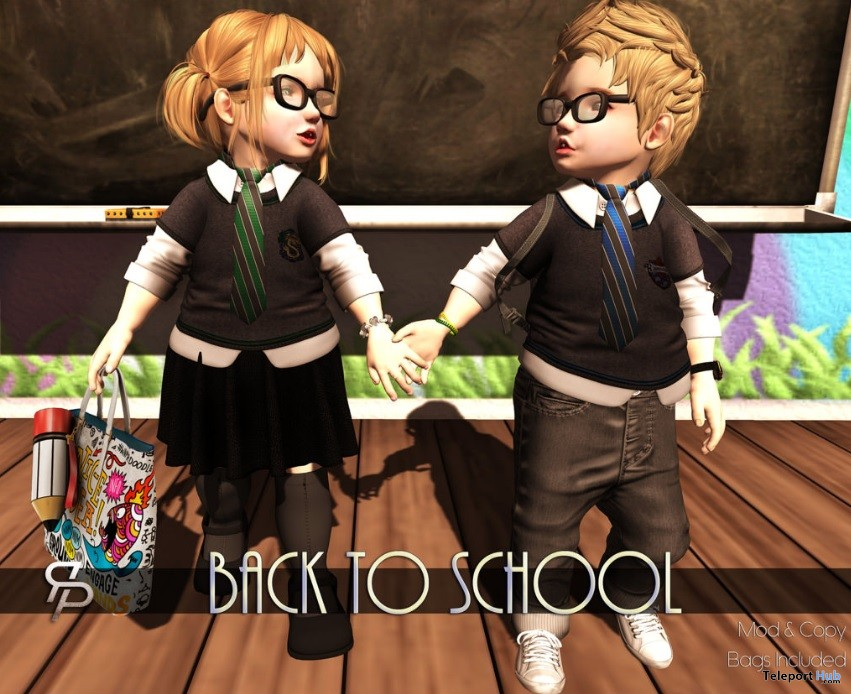 Back To School Pose Group Gift by Reel Poses - Teleport Hub - teleporthub.com