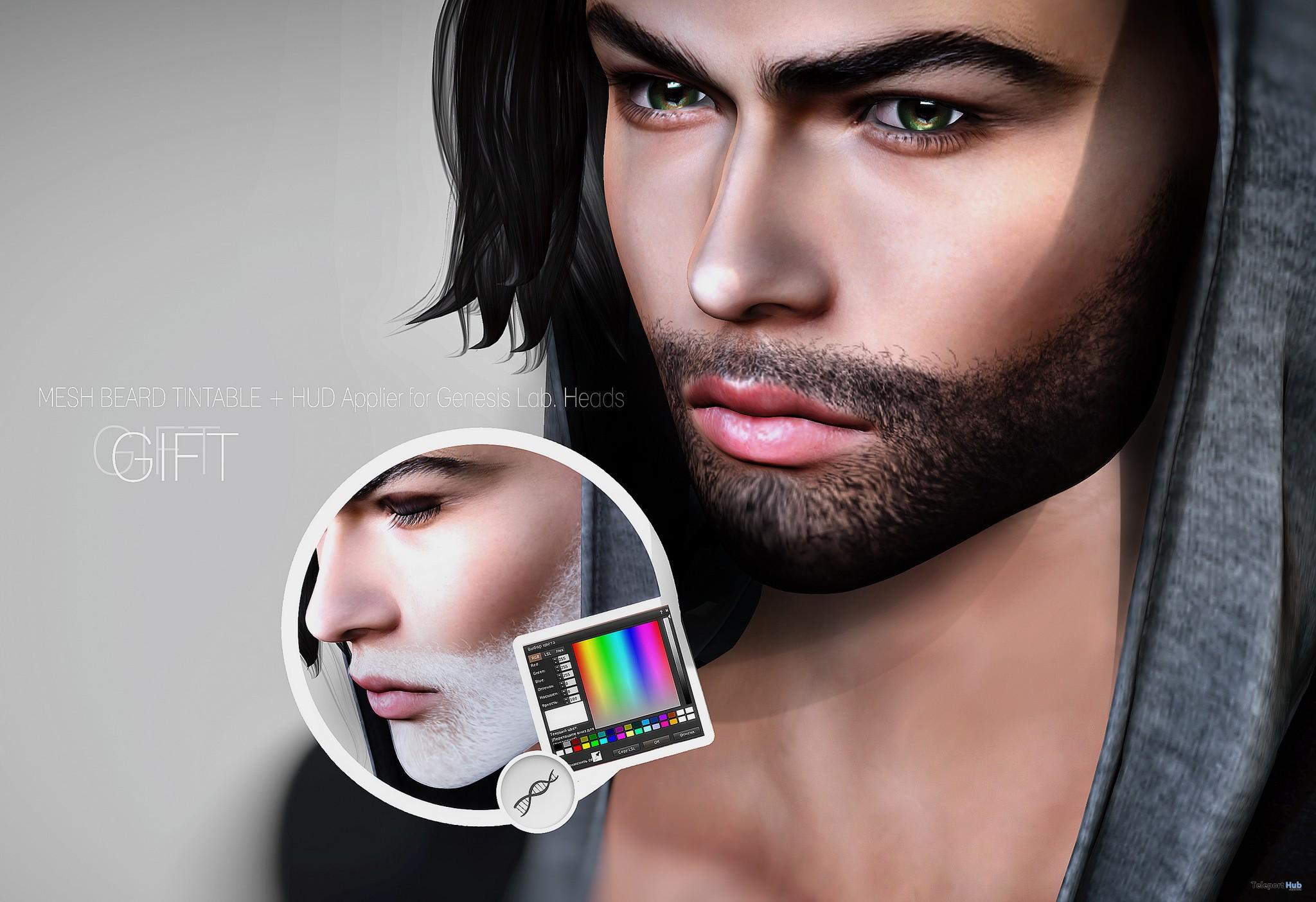 Mesh Tintable Beard Modify HUD October 2016 Shiny Shabby Gift by Genesis Lab - Teleport Hub - teleporthub.com