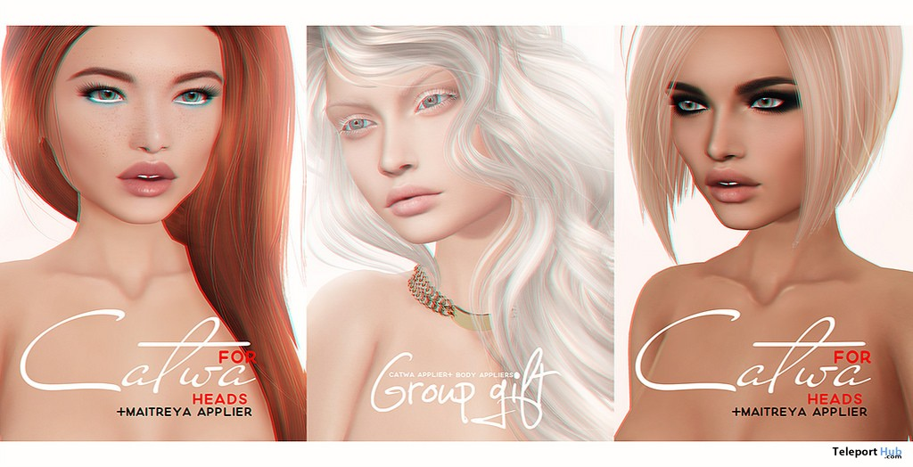 Albino Skin with Head & Body Appliers Group Gift by PUMEC - Teleport Hub - teleporthub.com
