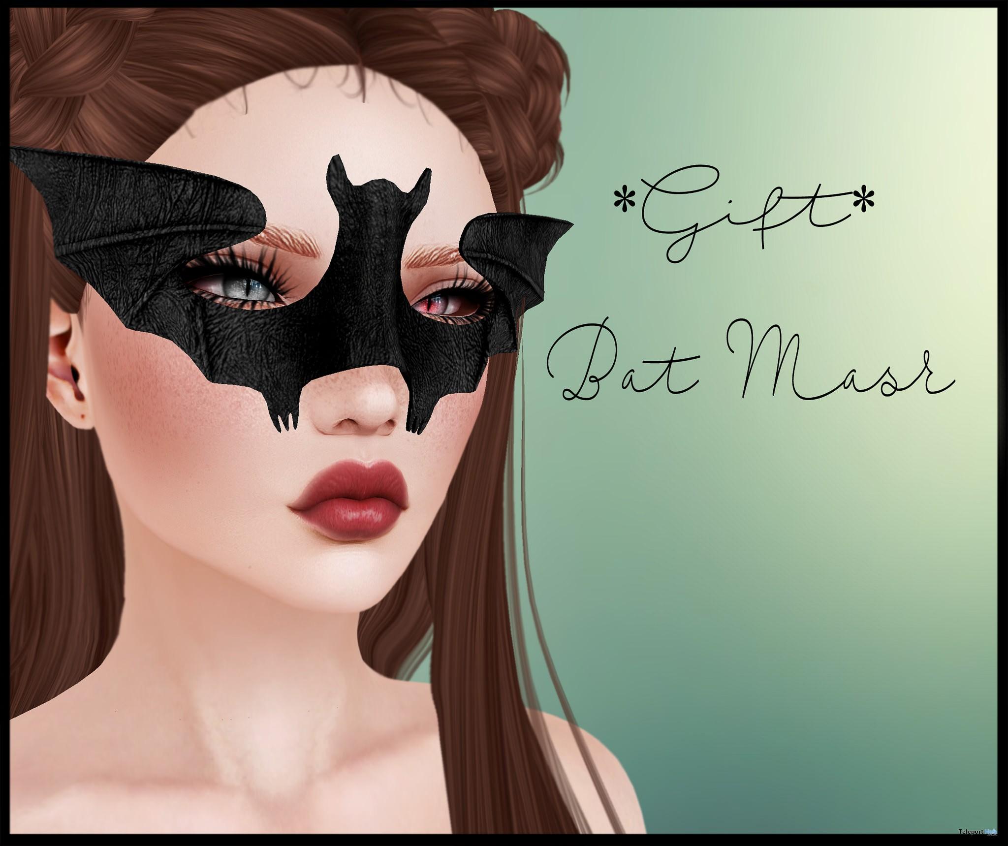Bat Mask October 2016 Group Gift by Viki - Teleport Hub - teleporthub.com