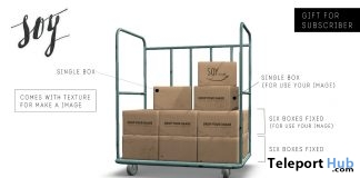Cardboard Box Cart Subscriber Gift by Soy - Teleport Hub - teleporthub.com