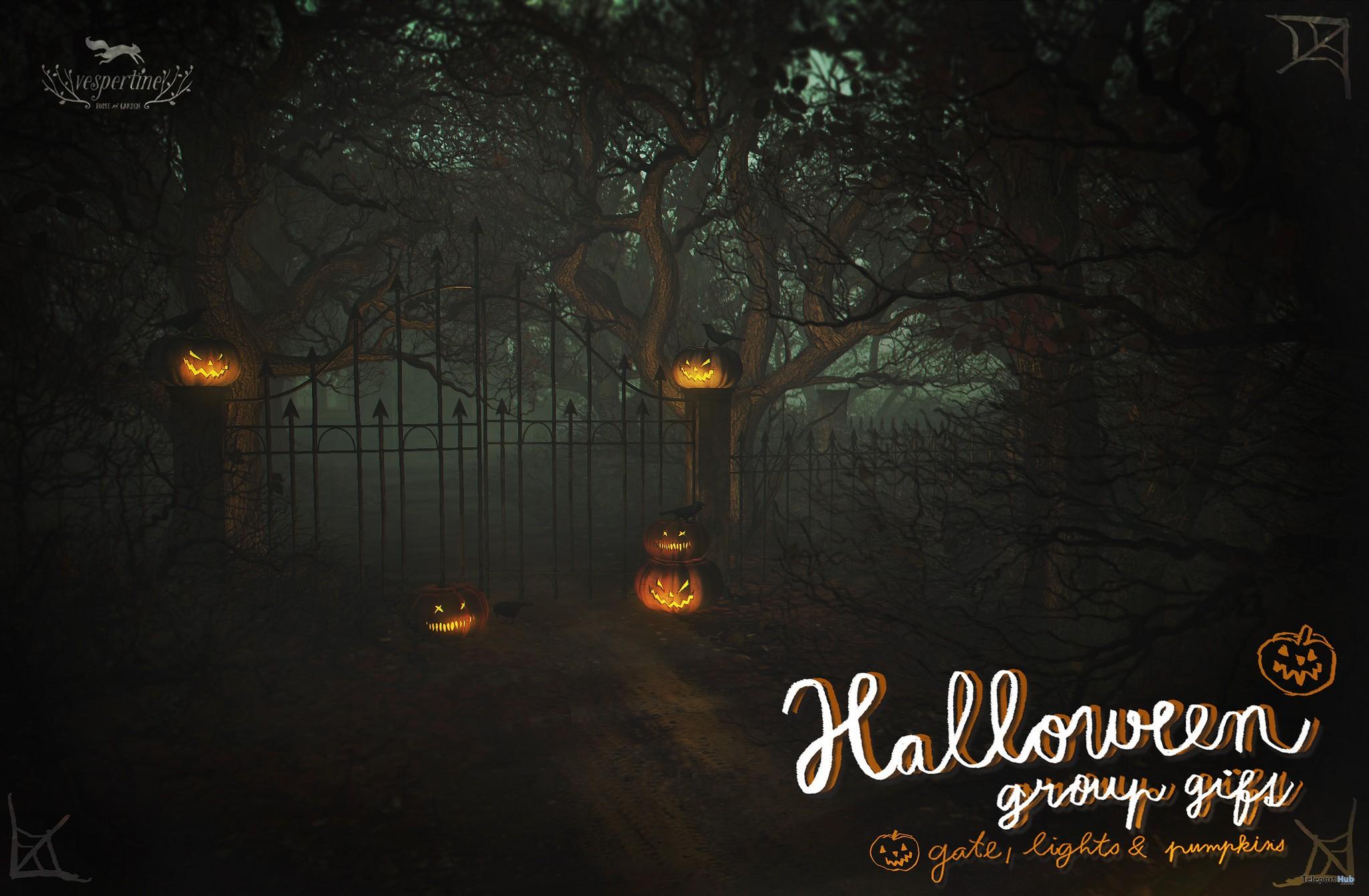Gate, Lights, and Pumpkins Group Gift by vespertine - Teleport Hub - teleporthub.com