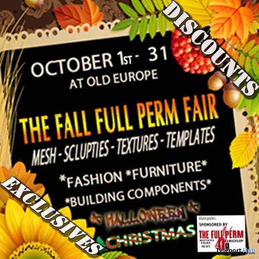 The Fall Full Perm Fair at Old Europe (2016) - Teleport Hub - teleporthub.com