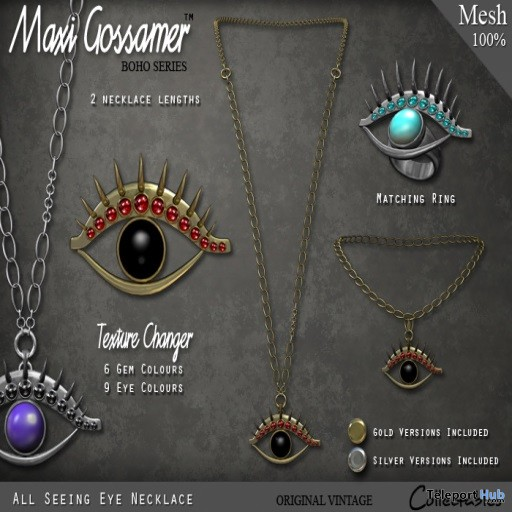 All Seeing Eye Necklace Group Gift by Maxi Gossamer - Teleport Hub - teleporthub.com