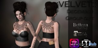 Outfit with Appliers December 2016 Group Gift by VELVET - Teleport Hub - teleporthub.com