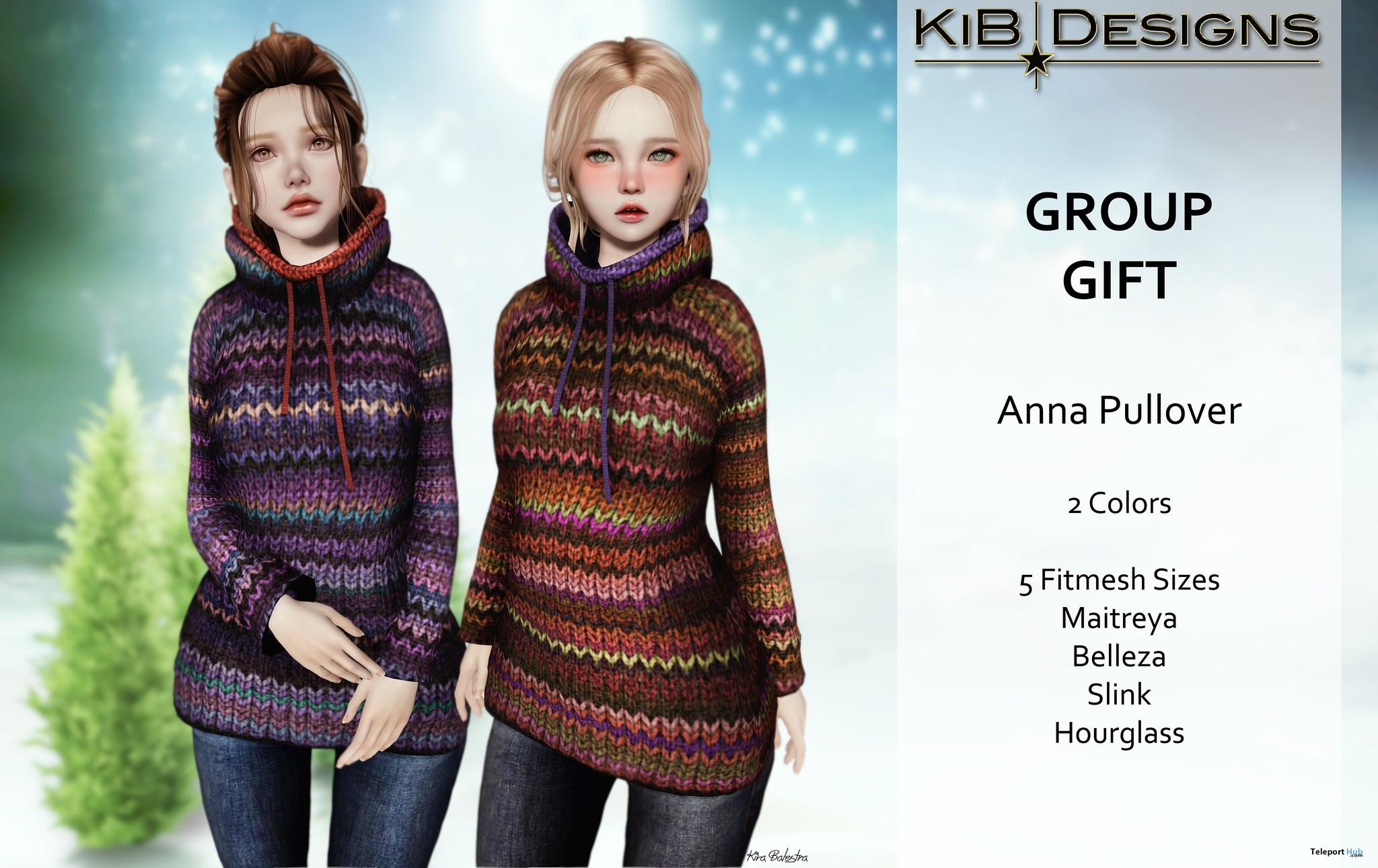 Anna Pullover December 2016 Group Gift by KiB Designs - Teleport Hub - teleporthub.com