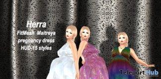 Herra Pregnancy Dress with 15 Styles HUD 99L Promo by Attitude Design - Teleport Hub - teleporthub.com