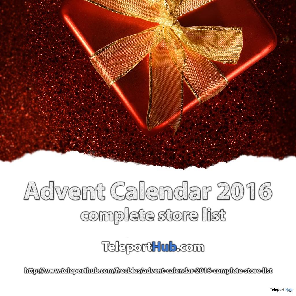 Advent Calendar 2016 Complete Store List - Teleport Hub - teleporthub.com