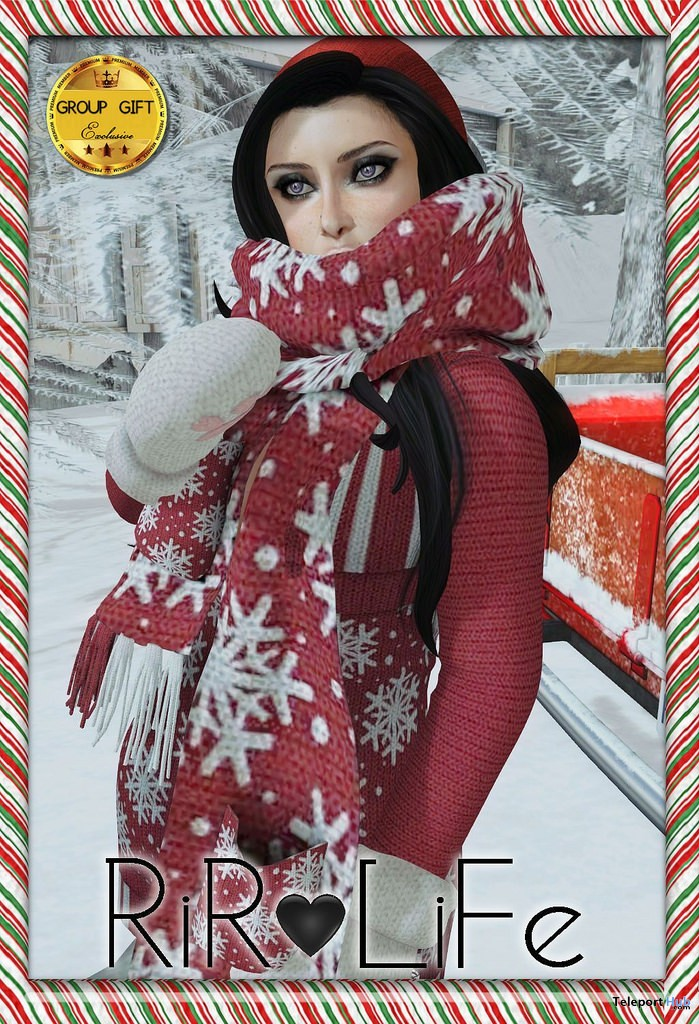 Red Sweater December 2016 Group Gift by Rir Life Design - Teleport Hub - teleporthub.com