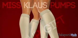 Miss Klaus Pumps Black Group Gift by Pure Poison - Teleport Hub - teleporthub.com