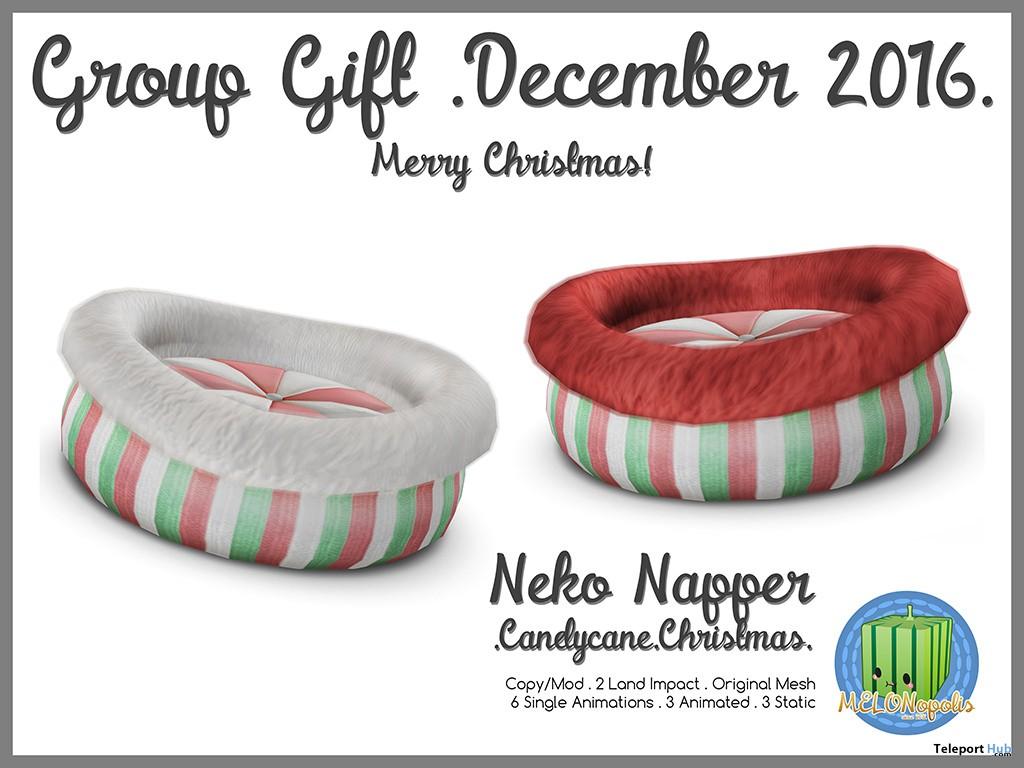 Neko Napper December 2016 Group Gift by MELONopolis - Teleport Hub - teleporthub.com