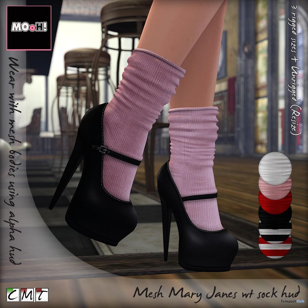 Mary Janes With Socks HUD Group Gift by MOoH! - Teleport Hub - teleporthub.com