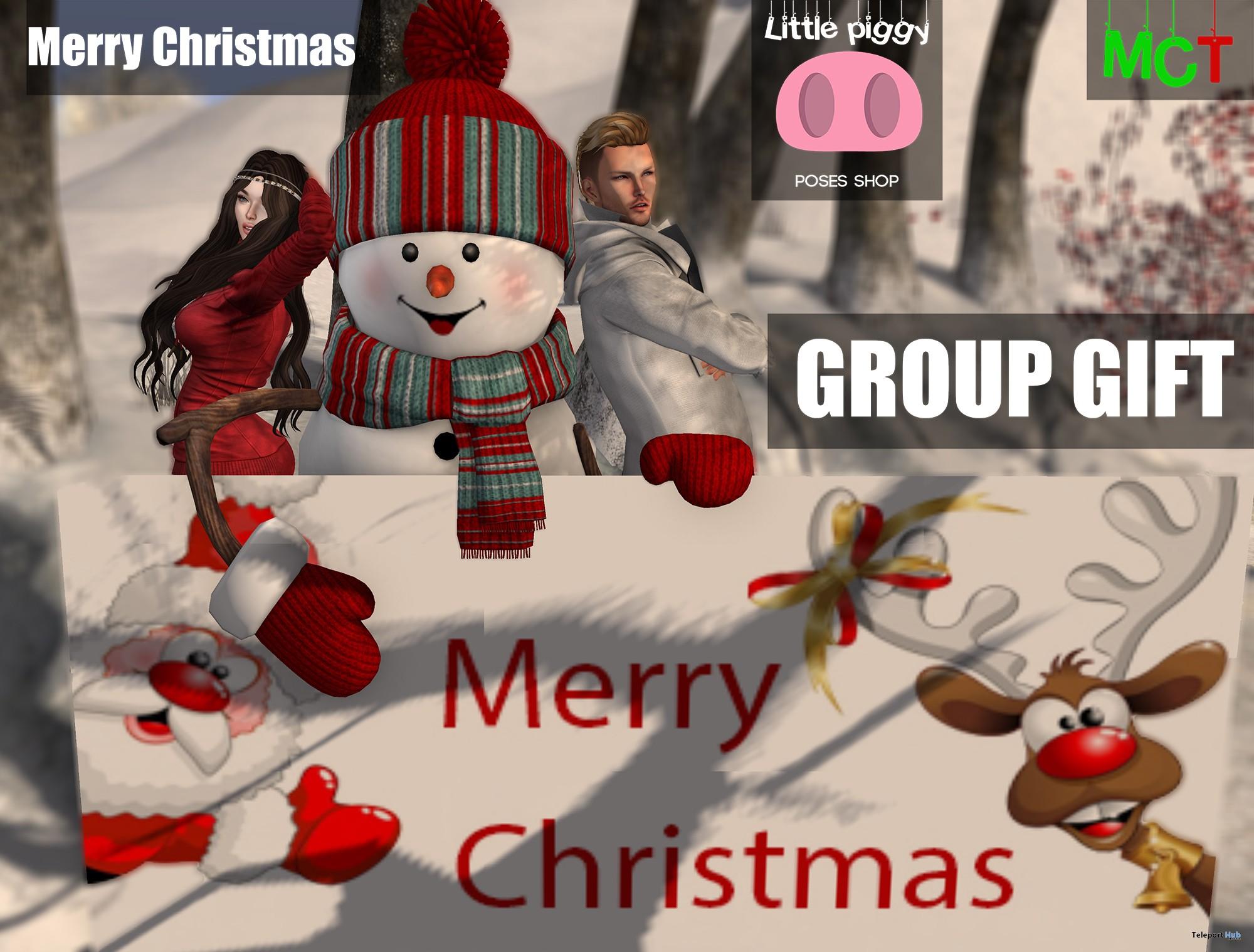 Merry Christmas Pose by Little Piggy - Teleport Hub - teleporthub.com