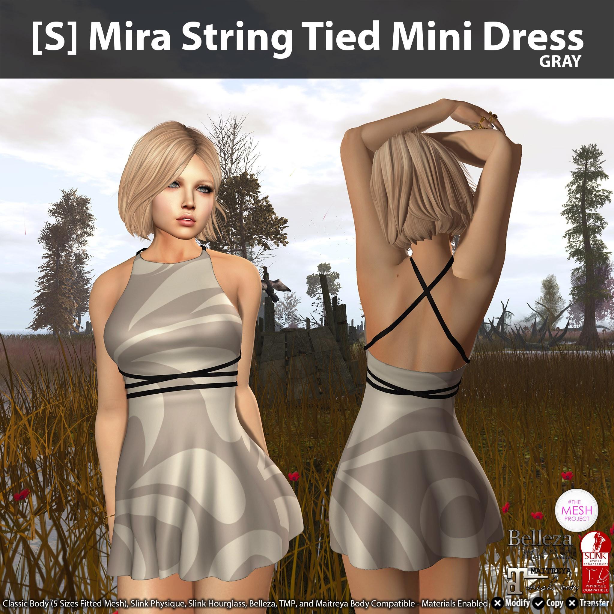 New Release: [S] Mira String Tied Mini Dress by [satus Inc] - Teleport Hub - TeleportHub.com