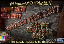 "Advanced 3D Mesh Title ""Happy New Year 2017"" 50% Off Promo by Daffy's Gadgetmania - Teleport Hub - teleporthub.com"