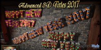 "Advanced 3D Mesh Title ""Happy New Year 2017"" 50% Off Promo by Daffy's Gadgetmania - Teleport Hub - teleporthub.com"
