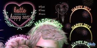 Happy 2017 Headband The Project Se7en December 2016 Group Gift by Eyecandy-Kotte - Teleport Hub - teleporthub.com