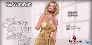 Gold Gown January 2017 Group Gift by Graffitiwear - Teleport Hub - teleporthub.com